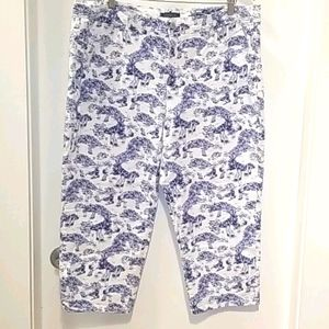 EX. CONDITION 22W CHARTER CLUB COTTON CAPRI PANTS!